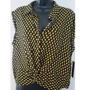 OLM Black and Yellow Blouse